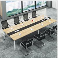 赣州厂家直销会议桌大型钢架办公桌员工培训桌洽谈大班桌简约长桌组合会议桌
