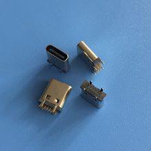 TYPE C 14P立式直插母座 USB 3.1 14P/180度直插3A插座 H=9.3/10.0