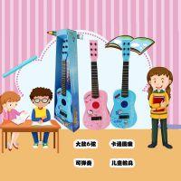 可弹奏儿童早教礼品盒吉他 卡通尤克里里乐器小提琴音乐玩具礼物
