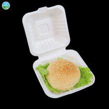 绿洲 一次性餐具,可降解餐具,便当盒子,6寸汉堡盒,韩国风便当盒子