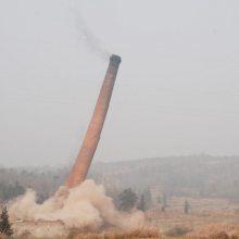 锅炉烟筒人工拆40米价格