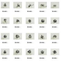 定制六爪仿真钻石订结婚戒指环情侣对戒 磁铁领带夹加工生产定制