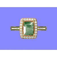 加工金绿猫眼戒指 乌钢戒指 金戒指怎么选—宝石首饰加工厂家