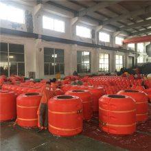 采沙船输送管浮体抗老化塑料管道浮筒型号