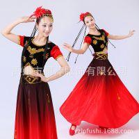 新疆少数民族舞蹈服装 民族舞演出专用服装 广场舞开场舞大摆裙