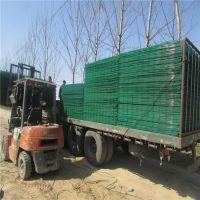 厂家直销双边丝护栏网 保定高速公路护栏网 框架绿色护栏网