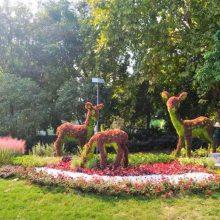 成都大型仿真绿雕厂家直销 假草坪绢花草花立体景观造型雕塑