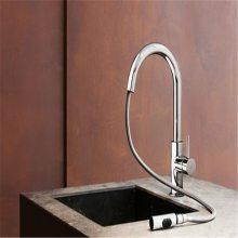 ib rubinetterie厨房龙头 不锈钢拉丝设计厨房水龙头