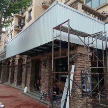 店铺招牌门头镂空造型铝板