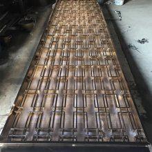 阳江玫瑰金拉丝不锈钢屏风 304抗指纹中式复古屏风 不锈钢花格加工厂