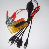 新款夹子充 USB接口一拖五夹子充电器 万能手机充电器