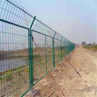 池塘边防护栏 绿色铁丝护栏 小区防护栏