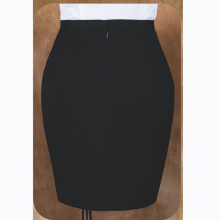 YHY2001-2贵州定制西服黑色弹力仿毛面料配色西装平驳领单排一粒扣收腰时尚女西服