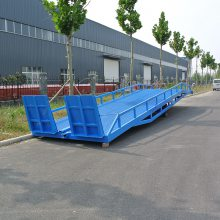 手动液压移动式登车桥 集装箱装卸平台 叉车卸货神器 钢格栅板网台面