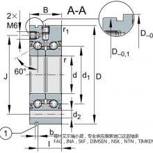 供应德国INA推力角接触球轴承ZKLF3080-2RS-PE尺寸参数INA进口轴承代理商原装进口***