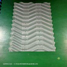 冷却塔斜交错散热片PVC填料冷却塔圆塔通用黑色半透明填料