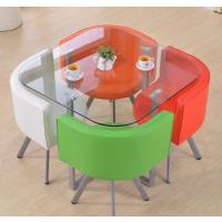 供应佛山港文家具GW-Q4109电镀钢制茶几咖啡厅座椅洽谈桌钢化玻璃台面桌