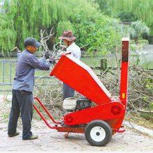 多功能大型木头粉碎机 果园公园树枝树叶粉碎机 汽油柴油动力碎枝机