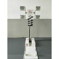 倒伏式升降照明2x150W 12V投光泛光灯 旋转升降照明灯