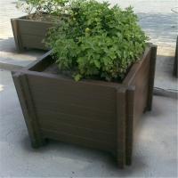 水泥花架子仿木大花箱 景观户外水泥预制花箱盆景 厂家直销