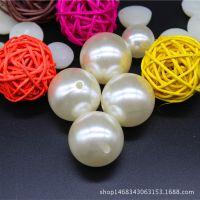 厂家直销abs塑料仿珍珠 白色直孔仿珍珠 手工散珠串珠材料 4-30mm