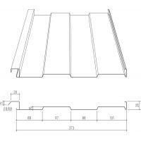 绍兴墙面压型板S-373型内装板新之杰压型钢板厂家