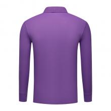 长袖广告衫定做 翻领长袖春秋季POLO衫批发 ZHIT-501702 深紫色人造棉加厚珠地布240克