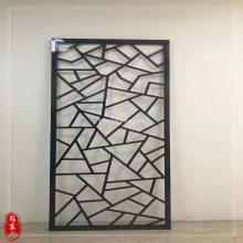 售楼部装饰镂空隔断定做 拉丝玫瑰金不锈钢花格屏风 专业定制生产