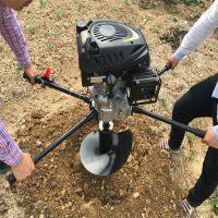 手推快速钻地锚坑挖坑机 厂家直销 四冲程立式挖坑机 优质价廉
