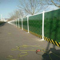山西施工围挡厂家供应PVC施工围挡 工地防护栏 市政工程新型绿色小草彩钢板围挡