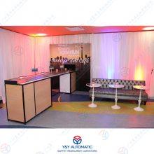 展览展示公司_回转动态展示台_不锈钢产品展示柜