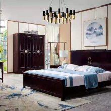简约实木床1.8米双人床1.5米1.2米公寓出租房橡木床家用小户型床 中式卧室家具实木床双人床1.5
