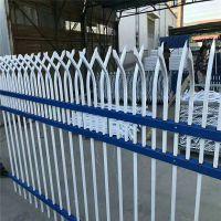 农村改建围墙护栏网 防攀爬围墙栏杆 蓝白方管铁栅栏隔离栅