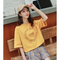想找便宜T恤广州沙河新款韩版T恤款式大版女装短袖便宜2-4元批发