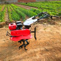 四驱水旱两用旋耕机 多功能小型汽油手推小型松土翻地机