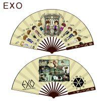乐帆动漫周边EXO暗杀教室大白刀剑神域折扇北方酱竹质绢布扇子