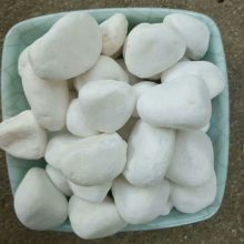 澳门雪花白石子 园林绿化白石子 白色鹅卵石