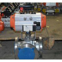 可诺泵阀Q6(45/44)F46气动三通衬氟球阀