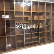全铝家具型材批发 20窄边极简玻璃门 全铝衣柜