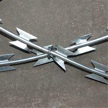 工厂用刀刺网 刺丝滚笼 热镀锌刀片刺绳