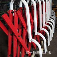 高速路收费站推拉护栏网 折叠式伸缩护栏网 钢管伸缩护栏隔离栏