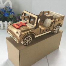 深圳广美贸易有限公司兴凰家居饰品摆件,实木汽车模型 木质家居摆件八一军车