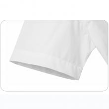 贵州男衬衫批发 商务衬衣订做 行政衬衫团购 QDG-301T白色竖条纹天丝棉方领短袖男衬衣