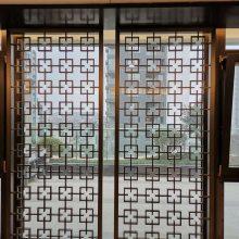 郑州不锈钢金属屏风酒店装饰玫瑰金花格