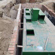 医院污水处理设备安装现场,MBR一体化设备,地埋式一体化设备,消毒设备-竹源