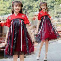 龙华汉服批发(龙华汉服)店红色古装汉服连体套装裙多色可挑选
