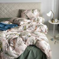 慢漫の莉香60支埃及长绒棉四件套田园印花时尚贡缎床单被套北欧风