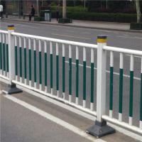 供应交通市政护栏 城市交通镀锌喷塑钢隔离栏 蓝色、白色可定制
