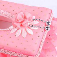 优质欧式蕾丝布艺纸巾盒创意抽纸盒客厅纸巾盒车用纸巾盒网店爆款