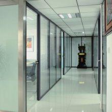 南山大冲写字楼装修 办公室隔断 铝合金玻璃隔断